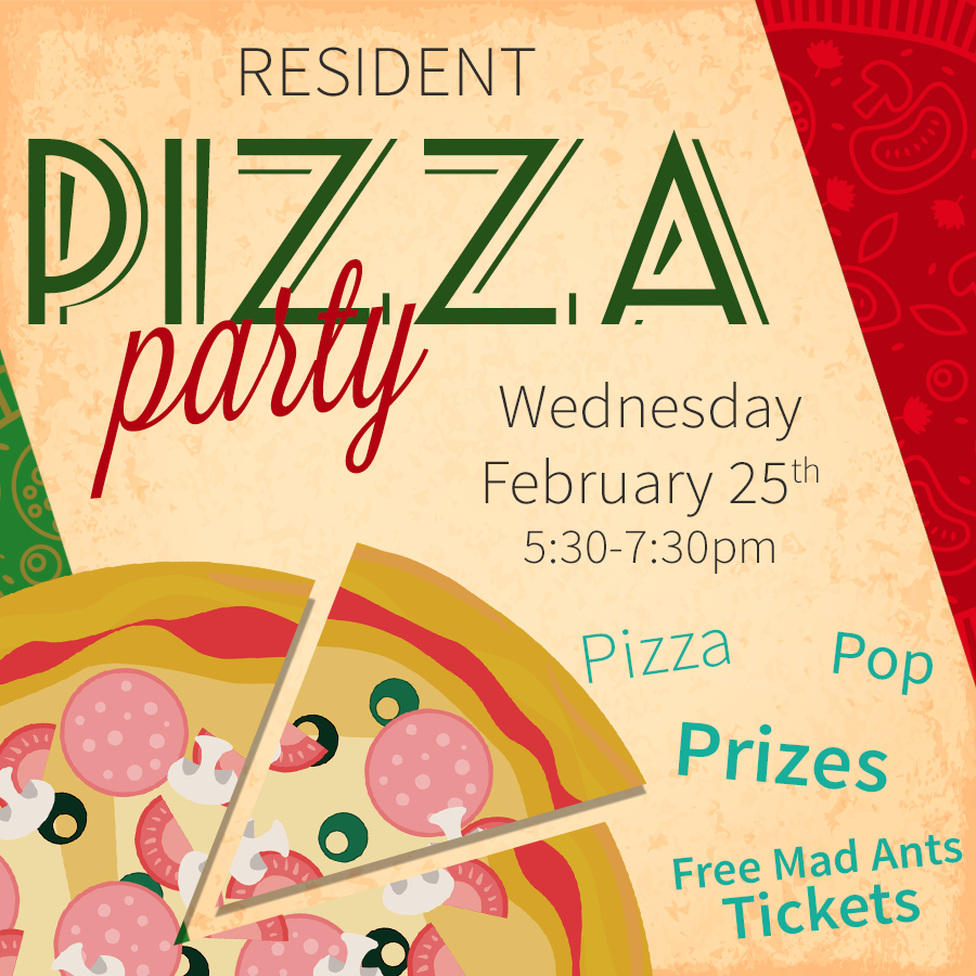 Fort Wayne Apartment Resident Pizza Party