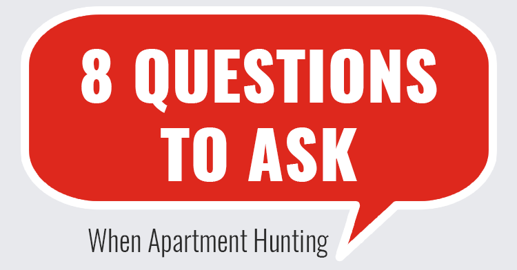 questions to ask when looking for apartment