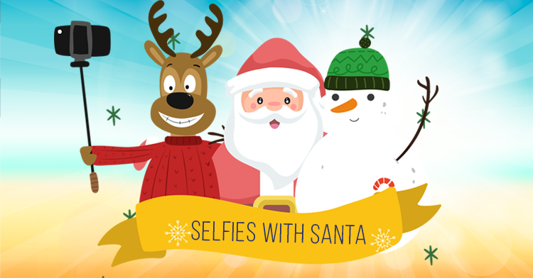 selfies with santa 2019